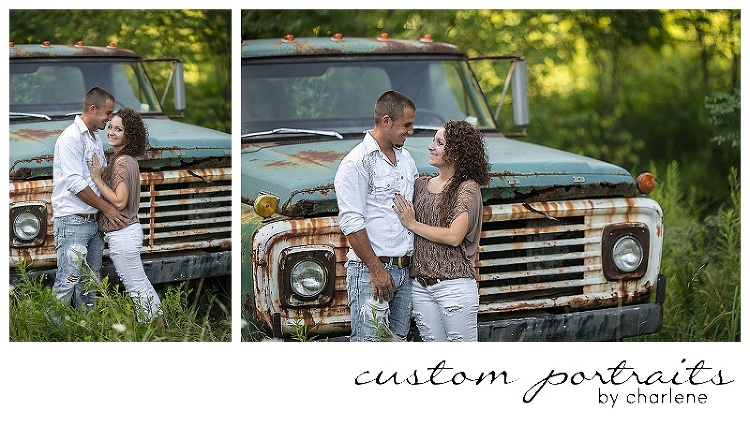 rustic engagement session vintage antique pickup truck couples pose ideas engagement session posing pittsburgh wedding photographer (1)