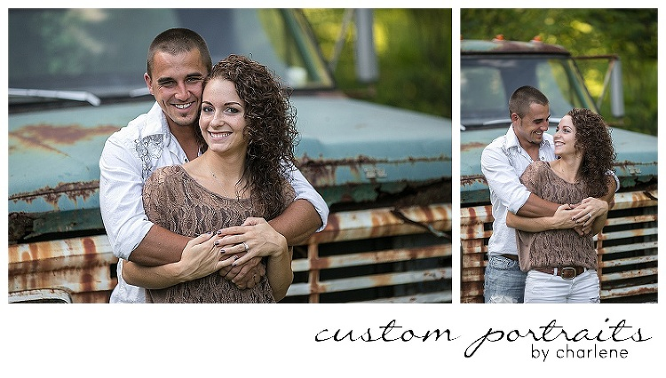 rustic engagement session vintage antique pickup truck couples pose ideas engagement session posing pittsburgh wedding photographer (2)