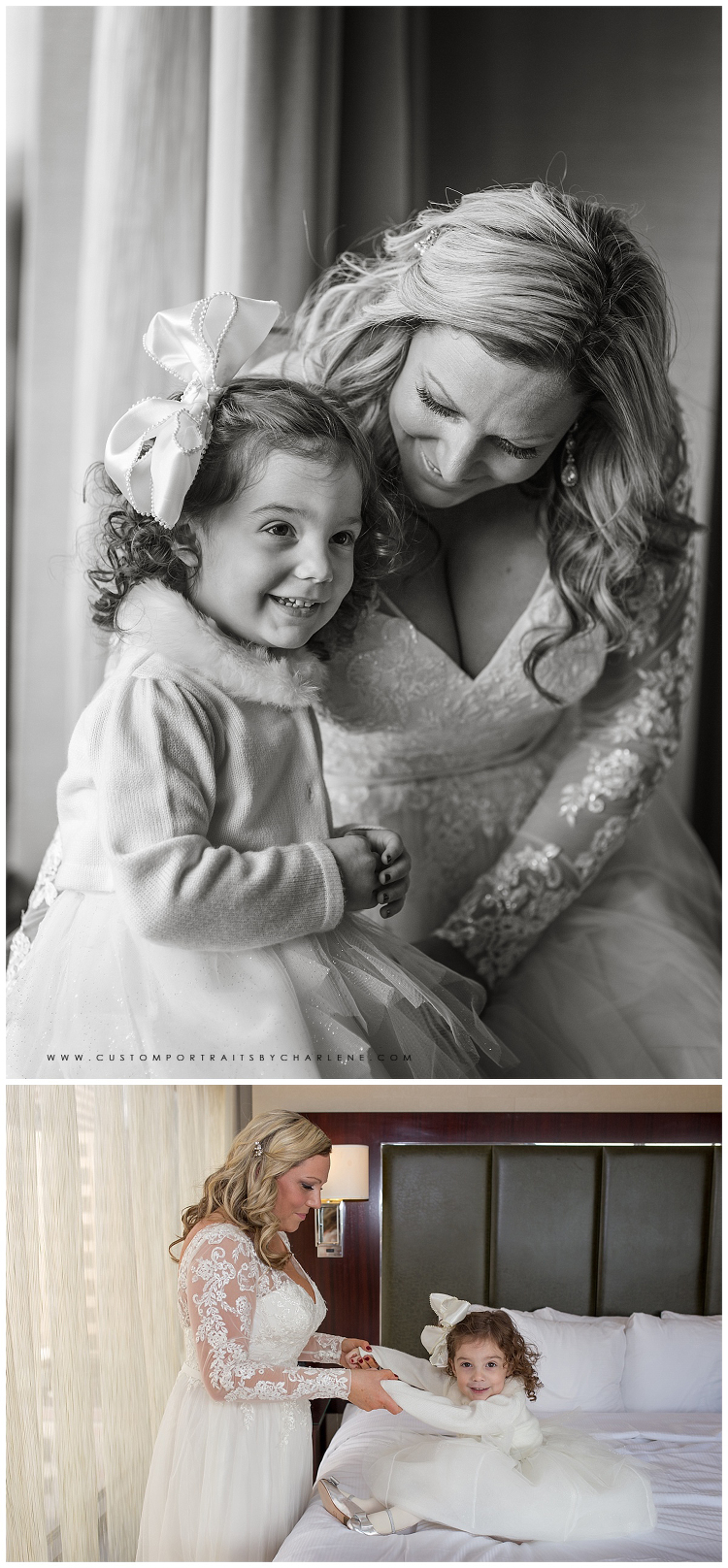 Pittsburgh Wedding Photographer Winter Wedding Columbus Ohio Daughter in Wedding Flower girl poses2